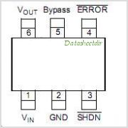 TC1072-3.6VCH713 pinout,Pin out