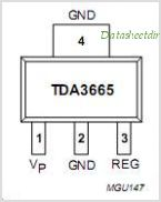 TDA3665 pinout,Pin out