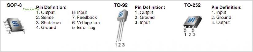 TS2950CP50 pinout,Pin out