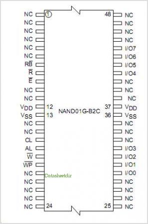 NAND01G-B2C pinout,Pin out
