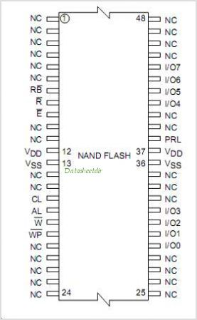 NAND04GW3B2B pinout,Pin out