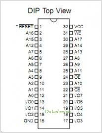 AT49F002T-70VI pinout,Pin out