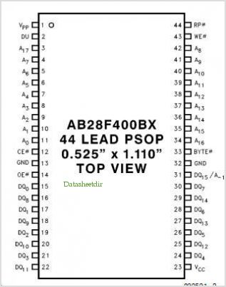 A28F400BX-T pinout,Pin out