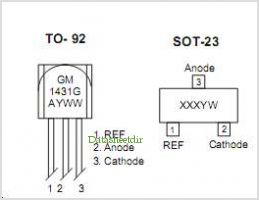 GM1431 pinout,Pin out
