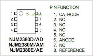 NJM2380 pinout,Pin out