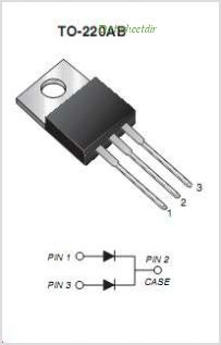 MBR1090CT pinout,Pin out