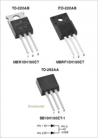 MBR10H150CT pinout,Pin out
