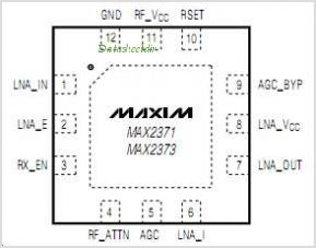 MAX2373 pinout,Pin out
