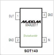 MAX2611 pinout,Pin out