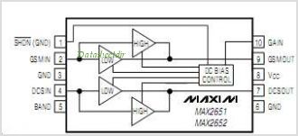MAX2652 pinout,Pin out