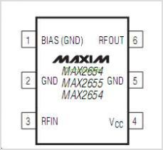 MAX2654 pinout,Pin out