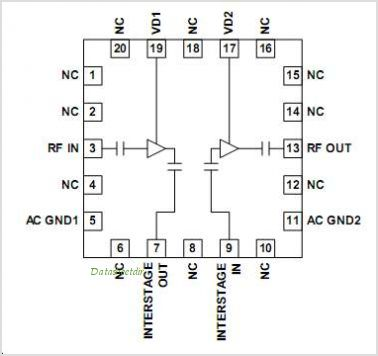 RF3866 pinout,Pin out