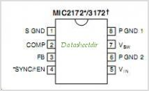 MIC3172 pinout,Pin out