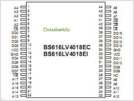 BS616LV4018AI pinout,Pin out