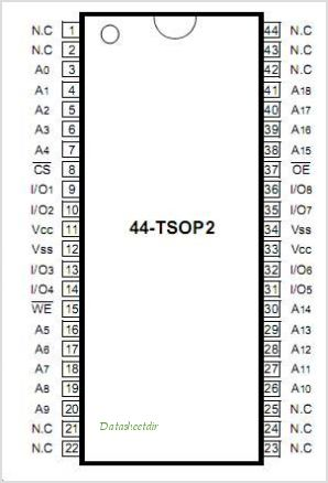 K6R4008V1D-TI10T pinout,Pin out