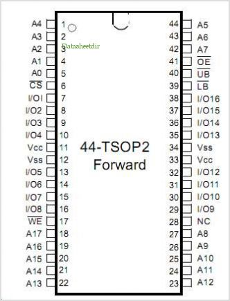 K6T4016V3C-TB55 pinout,Pin out