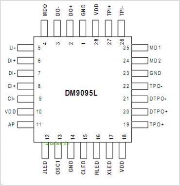 DM9095 pinout,Pin out