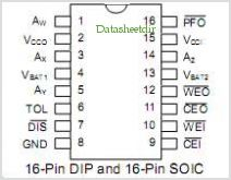 DS1610 pinout,Pin out