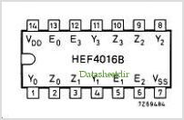 HEF4016B pinout,Pin out