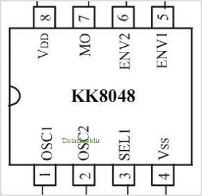 KK8048 pinout,Pin out