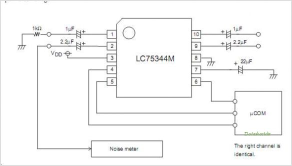 LC75344M circuits