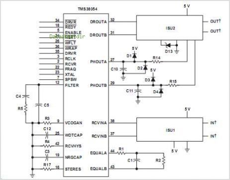 TMS38054 circuits