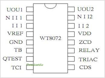 WT8072 pinout,Pin out