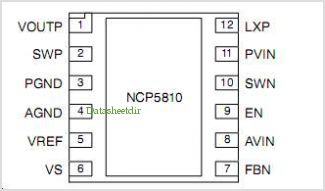NCP5810 pinout,Pin out