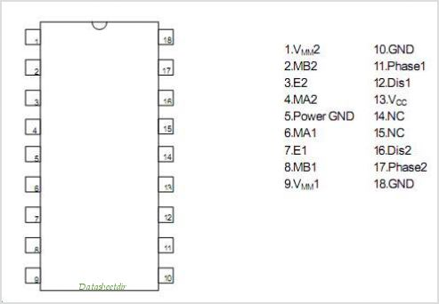 NJM2672 pinout,Pin out