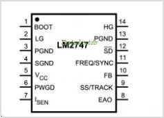 LM2747 pinout,Pin out