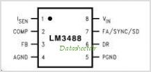 LM3488 pinout,Pin out