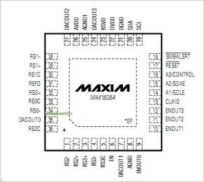 MAX16064 pinout,Pin out