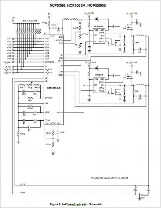 NCP5386 circuits