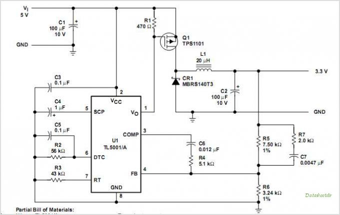 TL5001AIP circuits