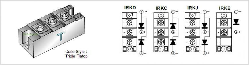 IRKD166-04 pinout,Pin out