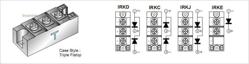IRKD236-08 pinout,Pin out