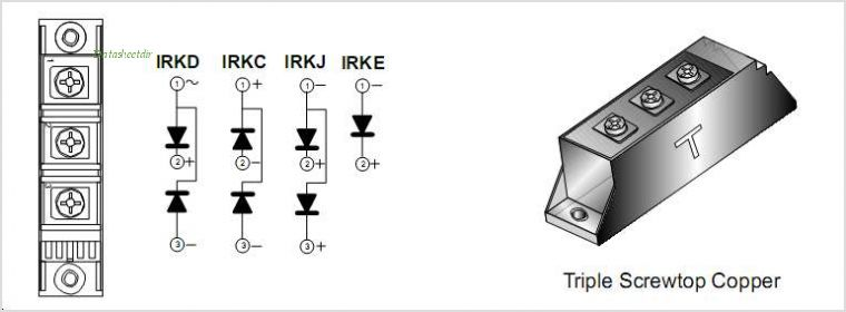 IRKD71-14A pinout,Pin out