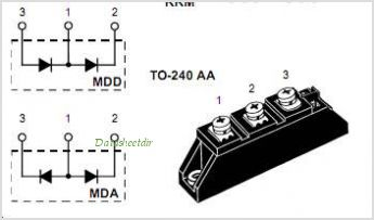 MDD72-08N1B pinout,Pin out