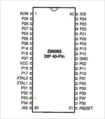 Z86093 pinout,Pin out