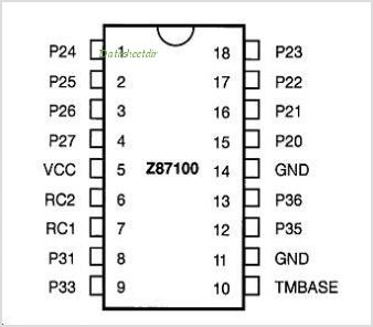 Z86116 pinout,Pin out
