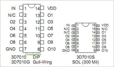 3D7010 pinout,Pin out