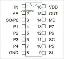 3D7418 pinout,Pin out