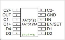 AAT3123 pinout,Pin out