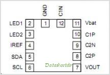 NCP5602 pinout,Pin out