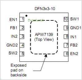 APW7139 pinout,Pin out