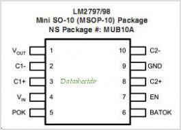 LM2798 pinout,Pin out