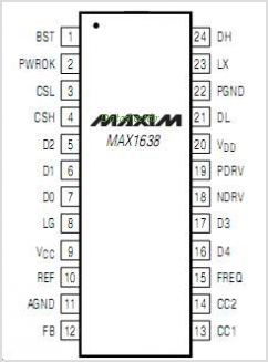 MAX1638 pinout,Pin out