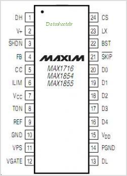 MAX1716 pinout,Pin out