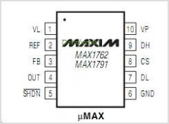 MAX1791EUB-T pinout,Pin out