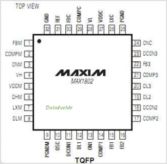 MAX1802 pinout,Pin out